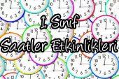 1. Sınıf Matematik Dersi Saatler Etkinlikleri