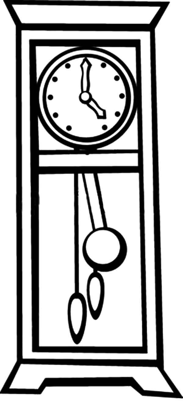 Grandfather Pendulum Clock Coloring Pages Jpg Sınıf
