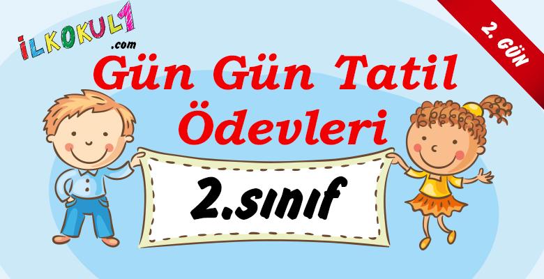 2016-2017 2. Sınıf Gün Gün 1. Dönem Tatil Ödevleri (2. GÜN)