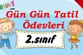2016-2017 2. Sınıf Gün Gün 1. Dönem Tatil Ödevleri (6. GÜN)