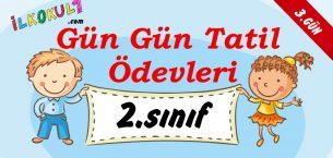 2016-2017 2. Sınıf Gün Gün 1. Dönem Tatil Ödevleri (3. GÜN)