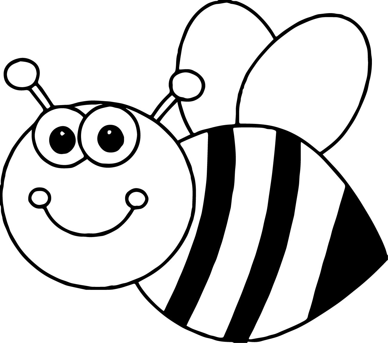 bee coloring pages for preschool - photo#21
