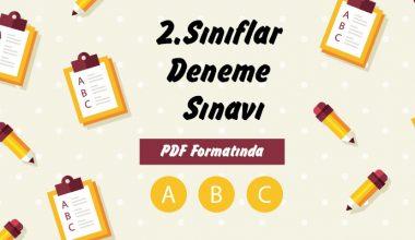 2. Sınıfar 2. Dönem 1. Genel Deneme Sınavı
