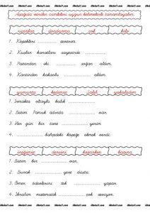 thumbnail of cümle tamamlama etkinlik yaprağı 1