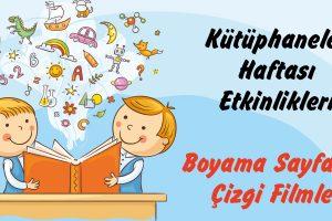 Kütüphaneler Haftası -Çizgi Filmler, Boyama Sayfaları-