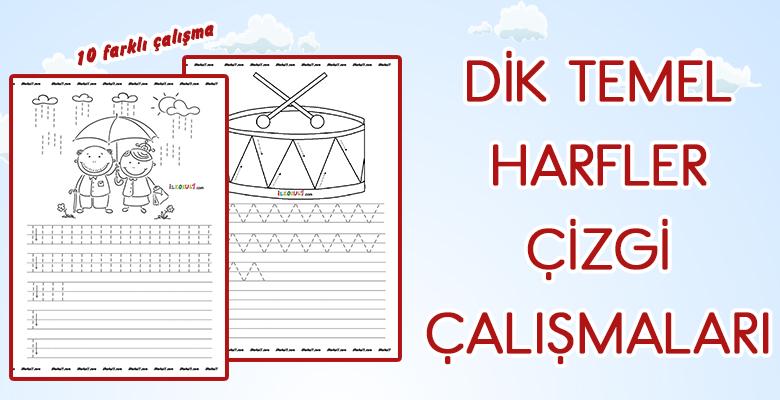 1. Sınıf Yeni Müfredat Uyumlu Çizgili Kağıt Şablonu