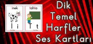 Dik Temel Harfler Ses Kartları