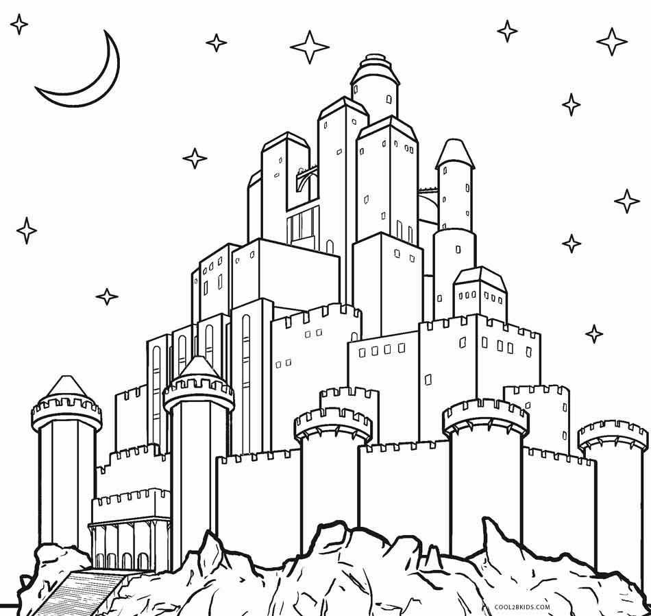 Castle-Coloring-Page
