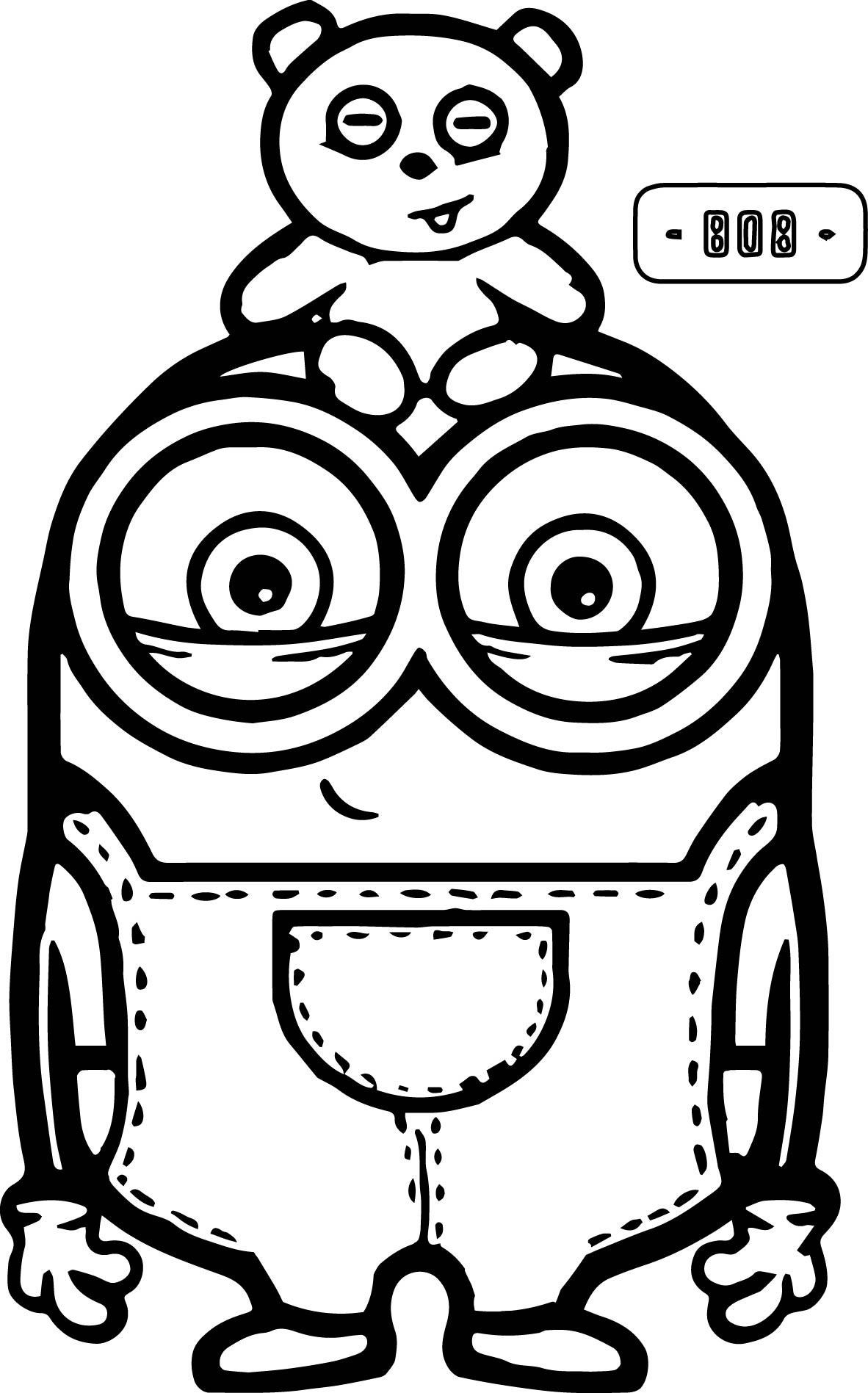 Cute-Bob-And-Bear-Minions-Coloring-Page