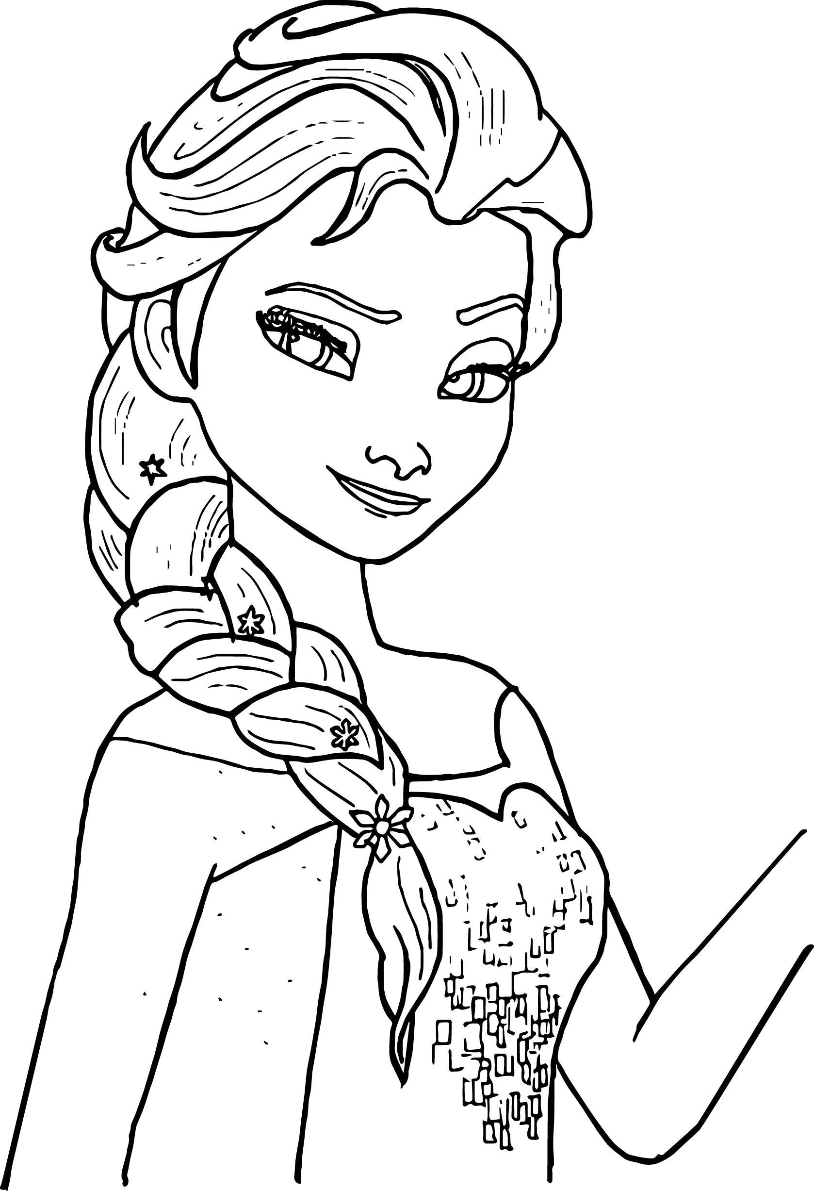 Anna And Elsa Coloring Pages Online Anna Best Free