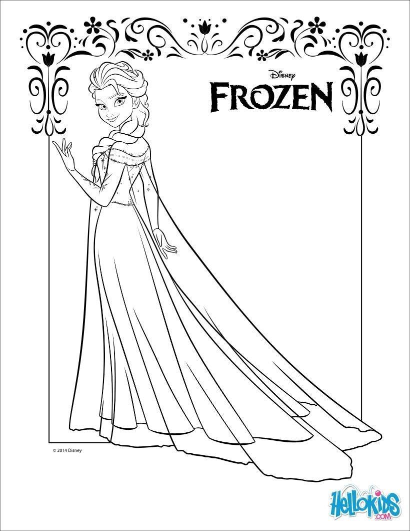 Karlar lkesi elsa boyama sayfalar s n f retmenleri for Elsa and anna coloring pages