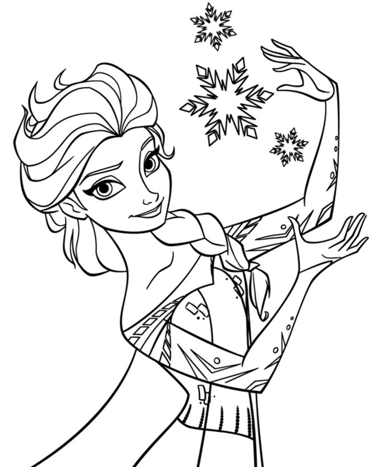 Elsa-Coloring-Pages