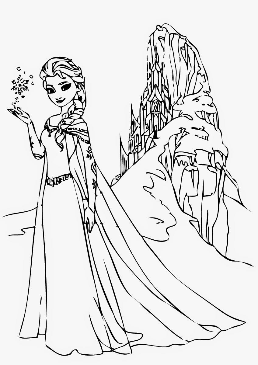 Frozen-Elsa-Coloring-Page