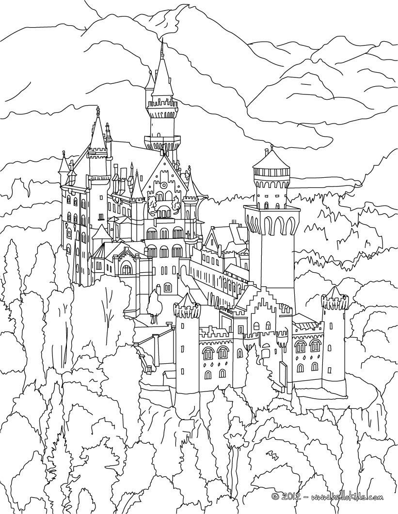 bavarian coloring pages - photo#15