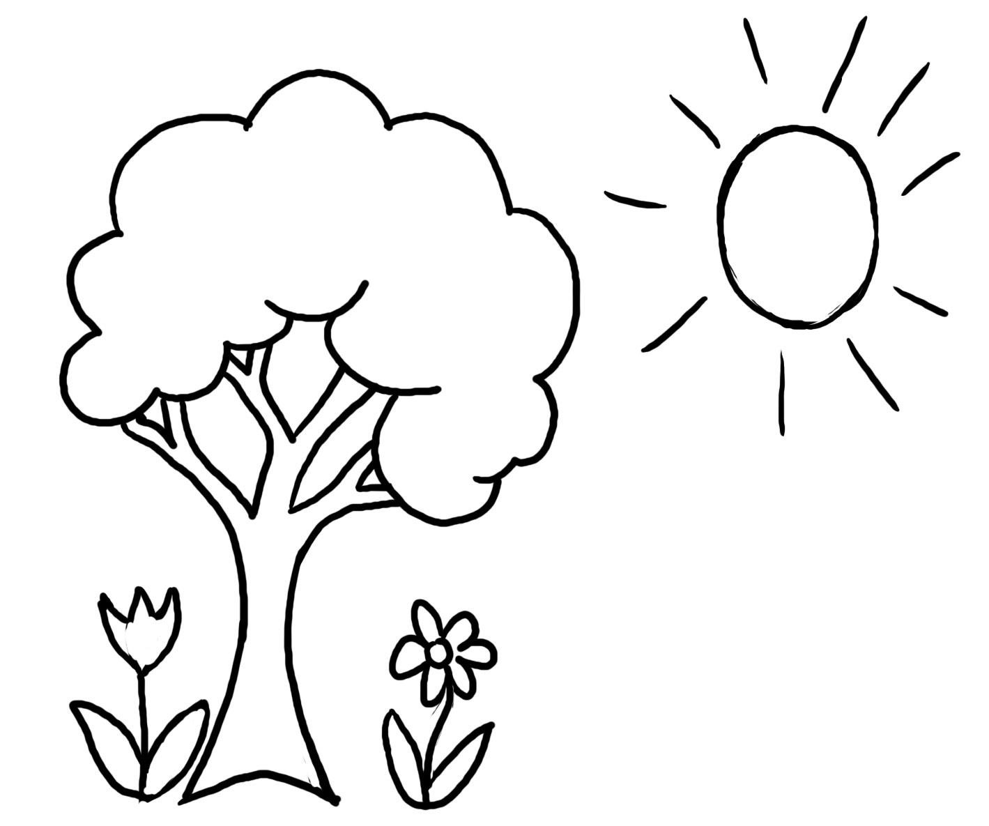 tree line coloring pages - photo#42