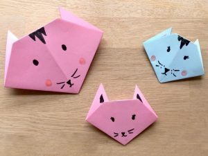 origami basit kedi yapımı