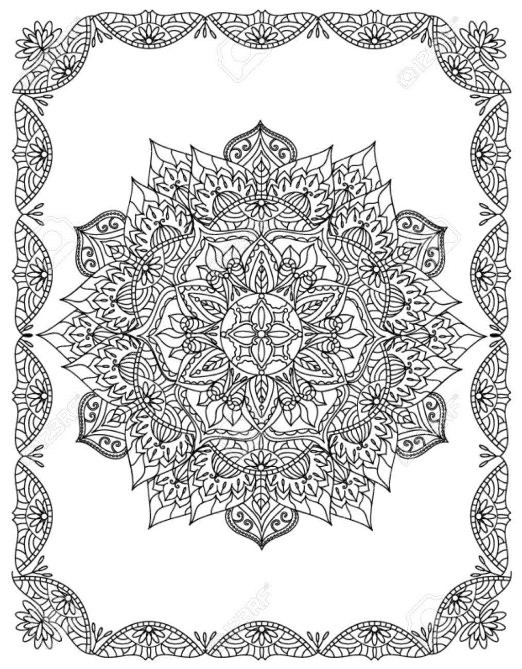 45986935-Mandala-Coloring-Illustration-Stock-Photo