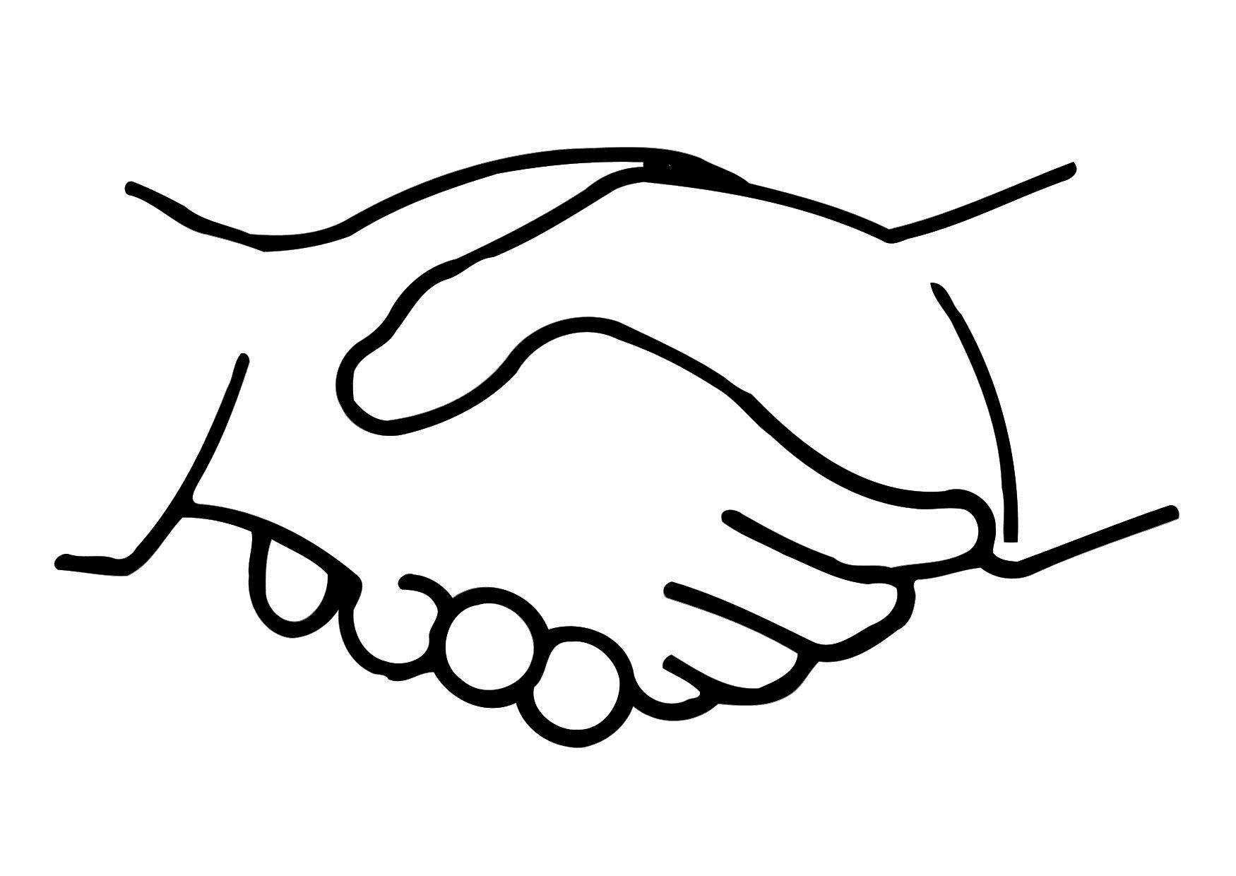 Coloring-Page-Shake-Hands-Dl11321