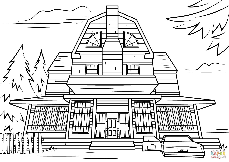 Ev boyama sayfalar s n f retmenleri in cretsiz for Free house drawing