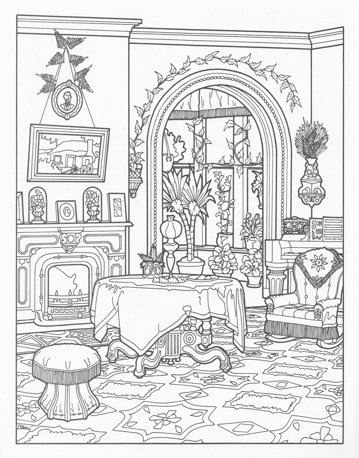 home furniture coloring pages - photo#40