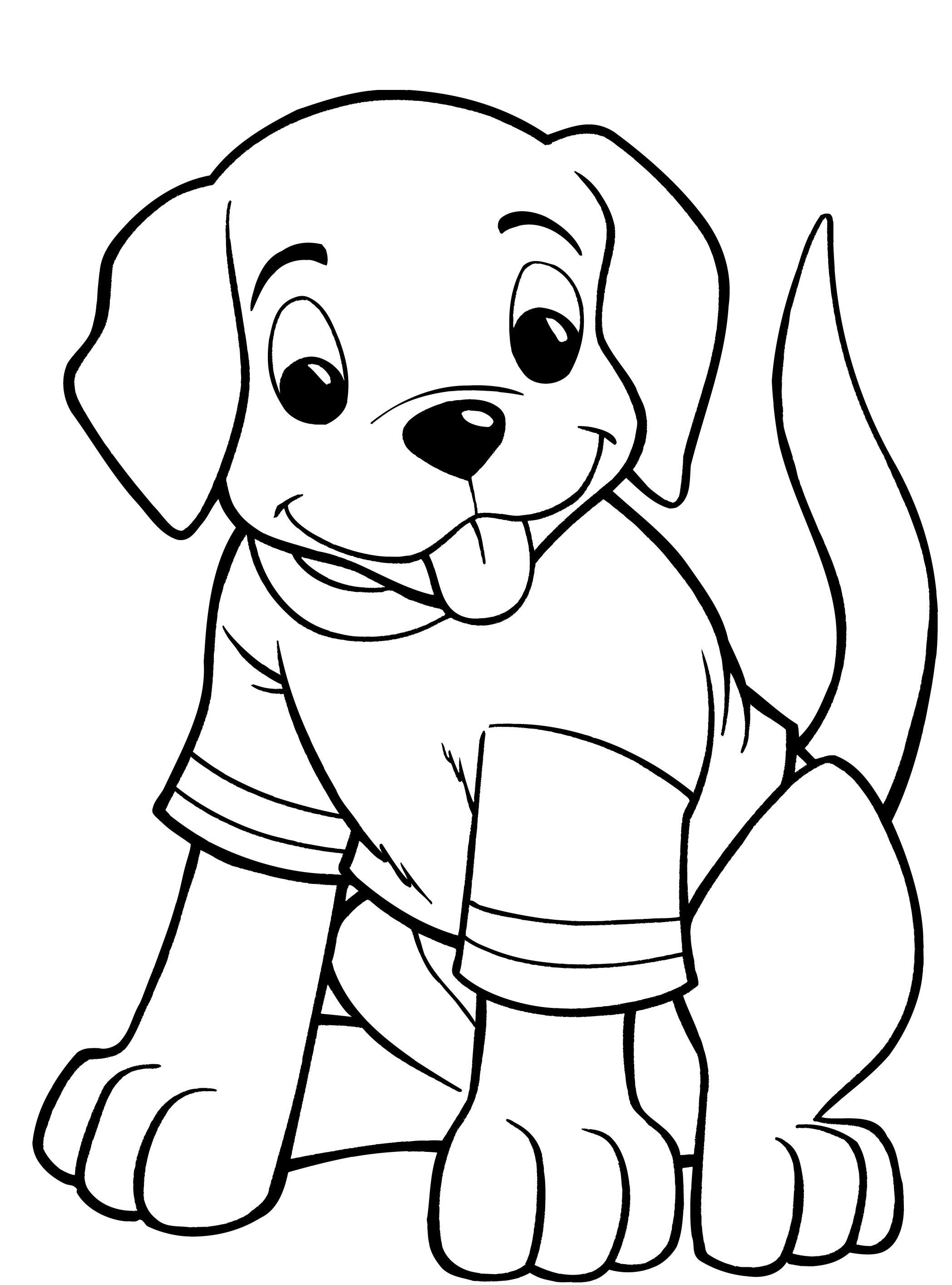 Yorkie Puppy Coloring Pages To