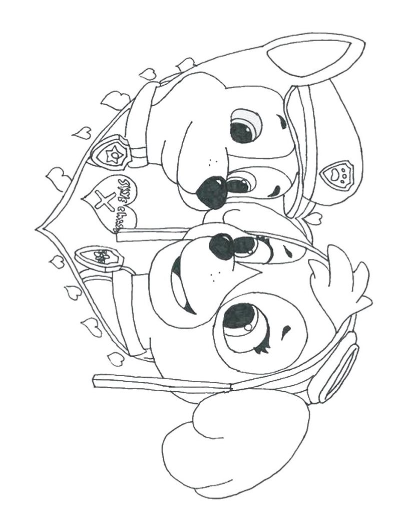 Paw Patrol Coloring Pages Pinterest