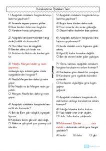 thumbnail of KARŞILAŞTIRMA İFADELERİ TEST
