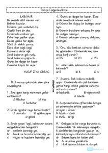 thumbnail of TÜRKÇE DEĞERLENDİRME TESTİ 4