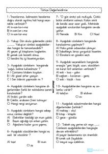 thumbnail of TÜRKÇE DEĞERLENDİRME TESTİ 5