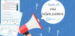 1. Sınıflar Mini Değerlendirme Etkinliği