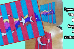 Agamograph Tekniği ile Türk Bayrağı Yapıyoruz!