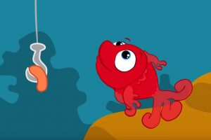 Kırmızı Balık Şarkısı ve Boyama Sayfası
