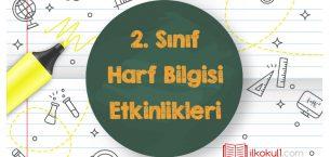 2. Sınıf Türkçe Harf Bilgisi Etkinlikleri (YENİ)