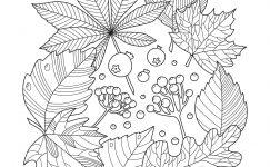 Sonbahar Mevsimi Detaylı Boyama Sayfaları