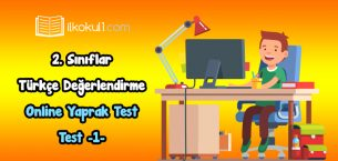 2. Sınıf Türkçe Online Değerlendirme Testi -1-