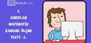 3. Sınıf Matematik -Zamanı Ölçme- Online Test -1-