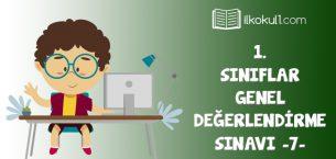 1. Sınıf Değerlendirme Sınavı -7-