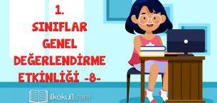 1. Sınıf Değerlendirme Sınavı -8-