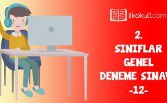2. Sınıflar 2. Dönem 12. Online Deneme Sınavı
