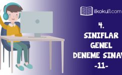 4. Sınıflar 2. Dönem 11. Online Deneme Sınavı