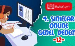 4. Sınıflar 2. Dönem 12. Online Deneme Sınavı