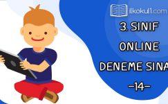 3. Sınıflar 2. Dönem 14. Online Deneme Sınavı