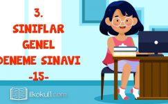 3. Sınıflar 2. Dönem 15. Online Deneme Sınavı