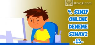 4. Sınıflar 2. Dönem 13. Online Deneme Sınavı