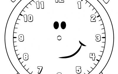 Saat Resmi Boyama Sayfası Sınıf öğretmenleri Için ücretsiz
