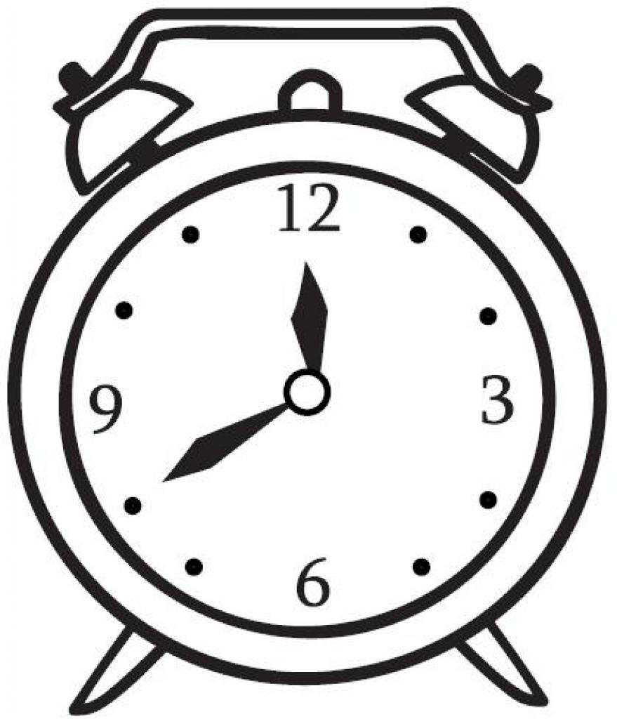 Saat Sablonlari Ve Saat Boyama Sayfalari