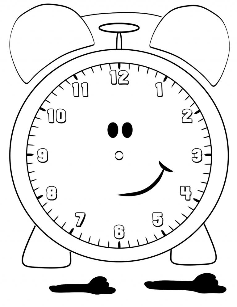 Saat Sablonlari Ve Saat Boyama Sayfalari Sinif Ogretmenleri Icin