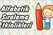 1. Sınıf Alfabetik Sıralama Etkinlik Sayfaları