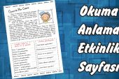 Ömer'in Bir Günü -1. Sınıflar İçin Okuma Anlama- Çalışma Sayfası