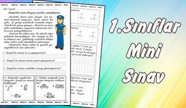 1. Sınıf -Mini Sınav-